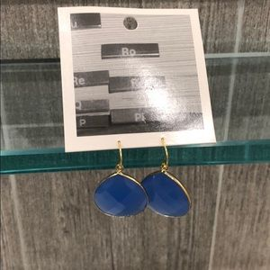 NWT Anthropologie blue teardrop earrings